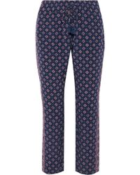 Joie - Deidre Cropped Printed Silk Tapered Pants - Lyst