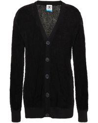 M Missoni Crochet-knit Cotton-blend Cardigan - Black