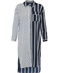 W118 by Walter Baker - Nancy Paneled Ruffle-trimmed Printed Crepe De Chine Shirt Dress - Lyst