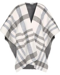 Soft Joie Checked Felt Wrap Light Grey - Gray