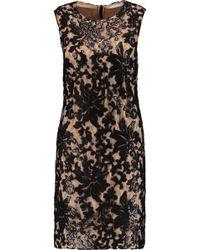 Diane von Furstenberg - Kaleb Sequined Appliquéd Lace And Stretch-crepe Dress - Lyst