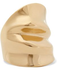 Annelise Michelson - Draped Gold-plated Ring - Lyst