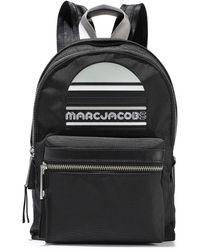 Marc Jacobs Trek Embellished Leather-trimmed Shell Backpack Black