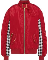 House of Holland | Shell And Checked Cotton Bomber Jacket | Lyst