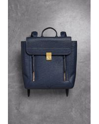 3.1 Phillip Lim - Woman Pashli Textured-leather Backpack Storm Blue - Lyst