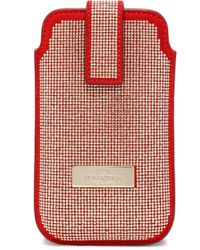 Valentino - Woman Crystal-embellished Leather Iphone 5/5s/se Case Red - Lyst