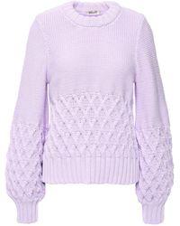 Baum und Pferdgarten Two-tone Cotton-blend Sweater Lilac - Purple