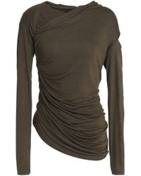 Bailey 44 - Cutout Ruched Stretch-jersey Top - Lyst