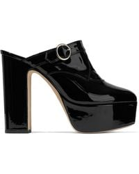 ALEXACHUNG - Buckled Patent-leather Platform Mules - Lyst