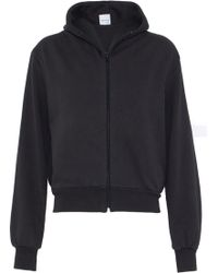 Vetements - Embroidered French Cotton-blend Terry Hooded Sweatshirt - Lyst