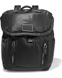 Marc By Marc Jacobs - Leather-Trimmed Shell Backpack - Lyst