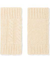Autumn Cashmere - Fingerless Cable-knit Cashmere Gloves - Lyst