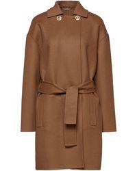 Versace Double-breasted Wool-felt Coat Brown