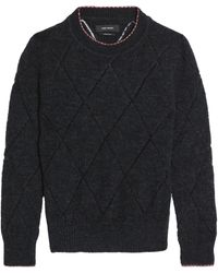 Isabel Marant - Open Knit-trimmed Knitted Jumper - Lyst