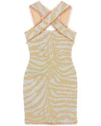 Hervé Léger - Hervé Léger Metallic Zebra-jacquard Mini Dress - Lyst