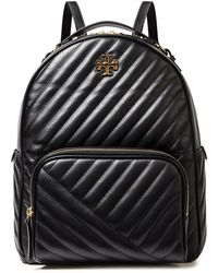 Tory Burch Kira Quilted Leather Backpack Black