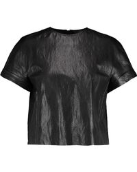 Just Cavalli | Cropped Faux Leather Top | Lyst