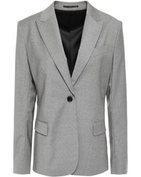 Filippa K Sasha Mélange Stretch-wool Blazer Light Grey - Gray