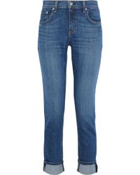 Rag & Bone Dre Faded Mid-rise Slim-leg Jeans Mid Denim - Blue