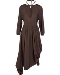 Vetements - Asymmetric Stretch-jersey Midi Dress - Lyst