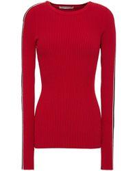 Autumn Cashmere - Gestreifter Pullover Aus Rippstrick - Lyst