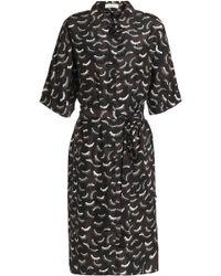 Nina Ricci - Printed Silk Crepe De Chine Shirt Dress - Lyst