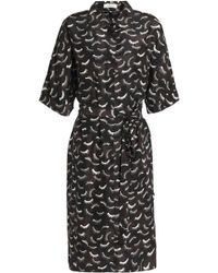 Nina Ricci - Printed Silk Crepe De Chine Shirtdress - Lyst
