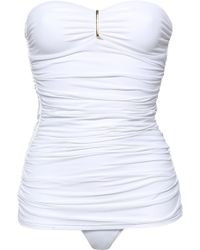 Melissa Odabash - Woman Mauritius Strapless Ruched Swimsuit White - Lyst