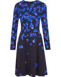 Lela Rose - Crépe Flared Dress - Lyst