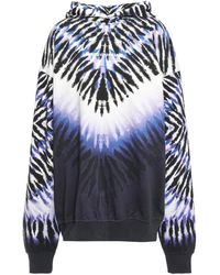 House of Holland Oversized Tie-dyed French Cotton-terry Hoodie White