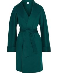 Iris & Ink Maggie Wool And Cashmere-blend Felt Coat Emerald - Green