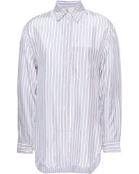 Maje - Striped Woven Shirt Lilac - Lyst