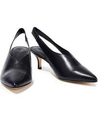 Sigerson Morrison Bala Leather Slingback Court Shoes Black