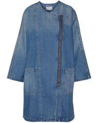 Current/Elliott Faded Denim Dress Mid Denim - Blue