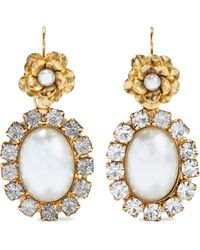 Elizabeth Cole 24-karat Gold-plated Resin And Crystal Earrings Gold - Metallic