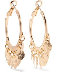 Kenneth Jay Lane - Gold-tone Hoop Earrings - Lyst