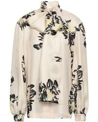 Paper London Pussy-bow Printed Silk-twill Blouse - Multicolour