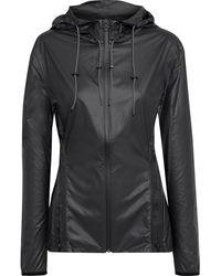 Reebok X Victoria Beckham Printed Coated-shell Hooded Jacket Black