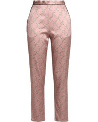 Fleur du Mal - Printed Silk-blend Satin Pyjama Trousers - Lyst