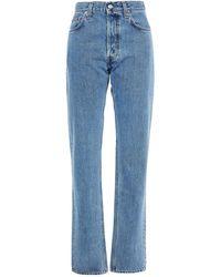 Helmut Lang High-rise Straight-leg Jeans - Blue