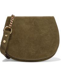 Zimmermann Saddle Suede Shoulder Bag - Green