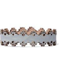 Zimmermann Laser-cut Leather Bracelet - Blue