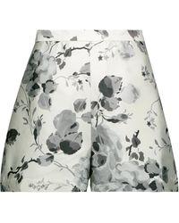 Zimmermann Havoc Floral-print Silk And Cotton-blend Shorts - Grey