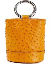 Simon Miller Bonsai Ostrich-effect Leather Bucket Bag - Multicolour