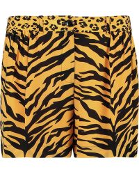 Boutique Moschino - Printed Silk Shorts - Lyst
