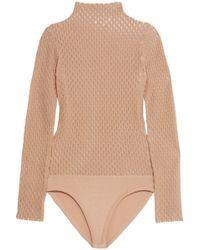 Opening Ceremony - Crochet-knit Wool-blend Bodysuit - Lyst