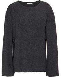 Skin Mélange Stretch-jersey Pyjama Top - Grey