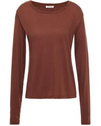 American Vintage Cotton-jersey Top - Brown