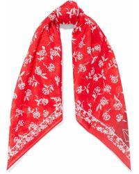 Rag & Bone - Floral-print Cotton And Silk-blend Scarf - Lyst