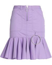 Marques'Almeida - Zip-detailed Fluted Ruffled Gabardine Skirt - Lyst